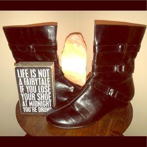 🍋Aerosoles Faux Leather Black Boots💜